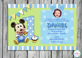 Mickey Mouse 1st Birthday Card 1st Birthday Invitation Templates Free Printable 20 Mickey Mouse