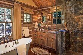 inspiring rustic log cabin bathroom decor ideas at home