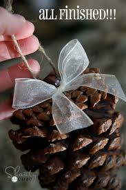 diy pinecone ornaments my tree pine cone pine and ornament
