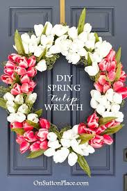 tulip wreath diy tulip wreath tulip wreath craft stores and front doors