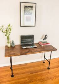 Pipe Desk Extra Thick Pipe Reclaimed Wood Desk Industrial Desk by Desk Wood Desk Office Vanity Small Dining Table Mock