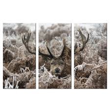 popular weed wall art buy cheap weed wall art lots from china weed giclee canvas hd print deer under weeds cover with rime wall art decor painting home and