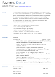 Sample Journeyman Electrician Resume by Electrician Cv Example And Template Cv Technician Pinterest