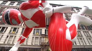 mighty morphin power ranger in macy s 90th thanksgiving parade