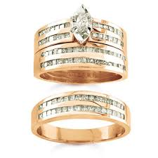 Gold Wedding Ring Sets by Engagement Ring Wedding Rings Depot Blog
