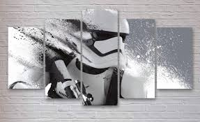 Star Wars Office Storm Trooper Star Wars 5 Panel Piece Canvas Wall Art