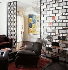 marvelous half wall room divider with cast glass poltrona frau