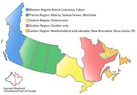 regions of canada map regions and clubs