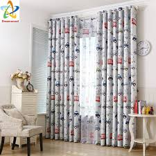 Blackout Curtains For Bedroom Dreamwood 100 Polyester Small Car Printed Blackout Curtains With