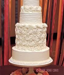 wedding cake roses top buttercream rosette cakes cakecentral