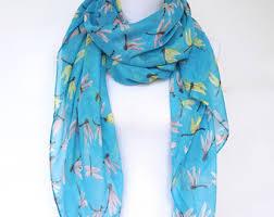 blue scarf etsy