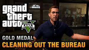 bureau gta 5 gta 5 mission 61 cleaning out the bureau 100 gold medal