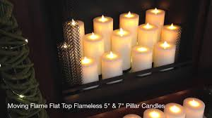 moving flame flat top flameless candles youtube