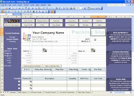 creating a packing slip template or packing list template excel
