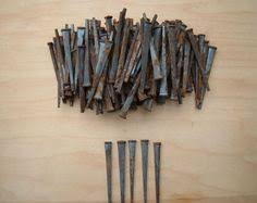antique rusted nails old square nails iron by vintagefullhouse