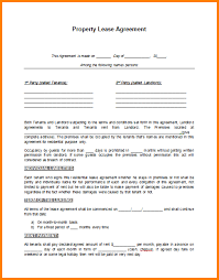 6 rental lease agreement template letter template word