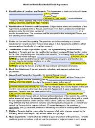 free california month to month lease agreement pdf word doc