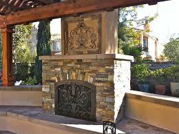 upscale stone outdoor fireplace then outdoor kitchens in