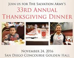 the salvation army s 33rd annual thanksgiving dinner downtown san