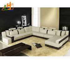 Latest Drawing Room Sofa Designs - european style 8 seater sectional u shaped drawing room couch set