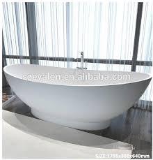 Stone Freestanding Bathtubs Modern Resin Stone Tin Bath Tub Solid Surface Freestanding Bathtub
