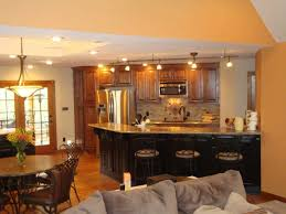 decorating ideas for open living room and kitchen home design best open concept kitchen and living room office
