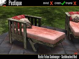 second life marketplace rustic futon sunlounger sunbleached