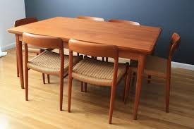 Scandinavian Teak Dining Room Furniture Pleasing Mid Century - Danish teak dining room table and chairs