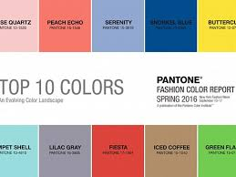 pantone 2016 colors pantone s spring 2016 colors in fashion and interiors a design