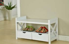 White Entryway Bench by Bench Entryway Bench Cushion Top Narrow Hallway Bench Seat