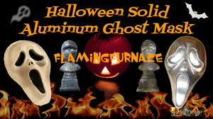 how to make solid aluminum ghost mask halloween decoration