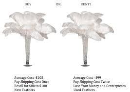 ostrich feather centerpiece 4 reasons not to rent ostrich feather centerpieces event