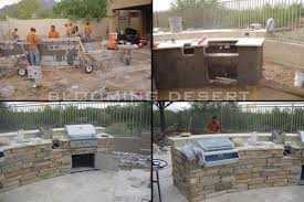 Outdoor Kitchen Construction Scottsdale Landscaping Case Study Blooming Desert