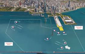 Chicago Race Map by America U0027s Cup Chicago Sailboat Charters