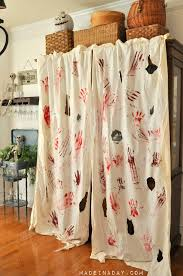 blood spatter curtains u0026 free bloody printable banner