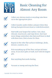 Household Items Checklist by Unfuck Your Habitat