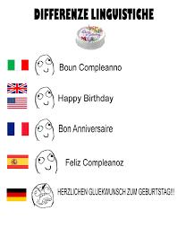 German Language Meme - differenze linguistiche happy birthday by tsundereviolet chan on