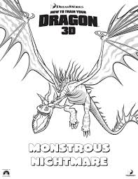 monstrous nightmare coloring pages hellokids