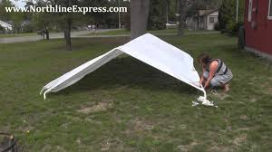 Carport Canopy Heavy Duty How To Assemble A King Canopy 10 U0027 X 20 U0027 6 Leg Universal Canopy