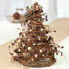 grapevine trees burgundy and grapevine twig and pip berry cone tree table
