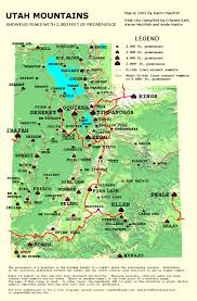 Map Of Mountains In United States by Flat Top Mountain Ut Climbing Hiking U0026 Mountaineering