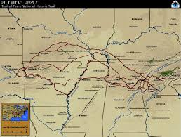 Map Of Concentration Camps Cherokee Trail Of Tears Map Cherokee Indians Trail Of Tears