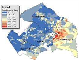 washington dc region map where is food insecurity greatest in the d c region there s a
