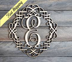 a z wooden letter frame monogram home decor anniversary