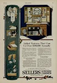 antique 1900s hoosier kitchen cabinet cupboard set reprint ad