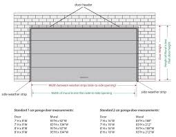 garage dimensions collection in industrial garage door dimensions with garage door