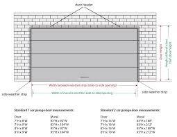 2 car garage door dimensions collection in industrial garage door dimensions with garage door