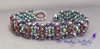 bracelet pattern tutorials images Double cross bracelet tutorial the beading butterfly jpg