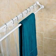Duo Shower Curtain Rod Polder White Duo Shower Curtain Rod Target Mobile 42 59