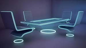 modern futuristic furniture features curved main desk glass wall